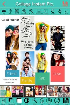 Creative picture collage maker with effects poster