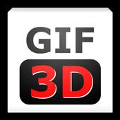 GIF 3D Free icon