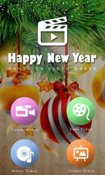 Happy New Year Photo Video Maker 2018 poster