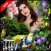 Nature photo frame photo editor | photo mixer icon