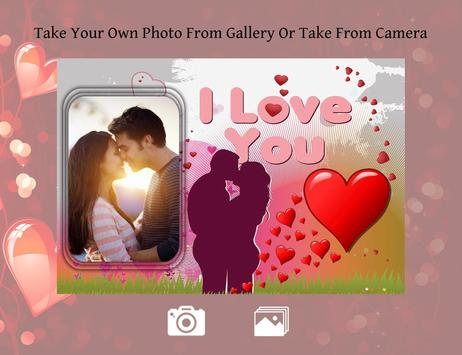 Romantic photo frame photo editor | photo mixer poster