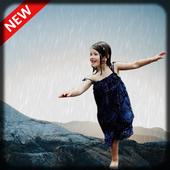Rain photo frame photo editor | photo mixer icon