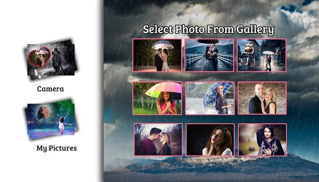 Rain photo frame photo editor | photo mixer poster