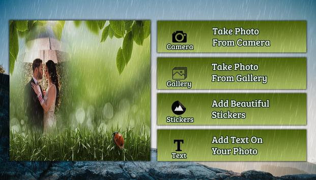 Rain photo frame photo editor | photo mixer apk screenshot