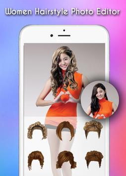 Woman Hairstyle Photo Editor apk screenshot