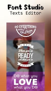 Font Studio - Text Editor poster