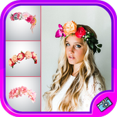 Beautiful Flower Crown Photo Editor icon
