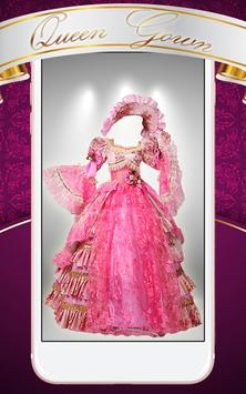 Queen Gown Photo Montage poster