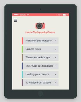 Lenta Free Photography Course apk screenshot