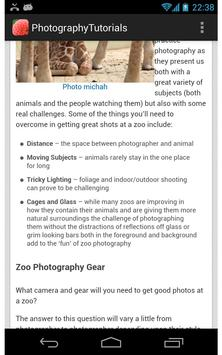 Photography Tutorials apk screenshot