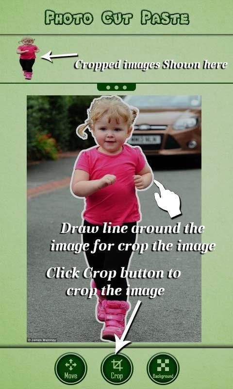 how to cut and paste photos