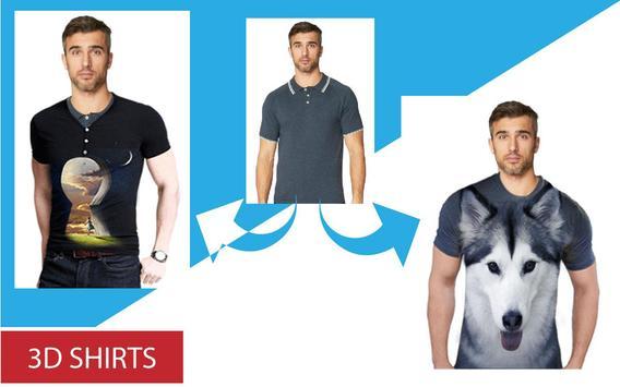 Man T-Shirt Photo Editor 2019 - 3D T Shirt Suit screenshot 3