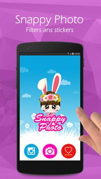 Snappy photo filters & Sticker poster