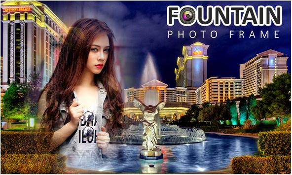 Water Fountain Photo Frames poster