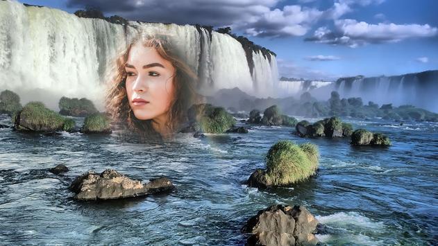 Waterfall photo fraem apk screenshot