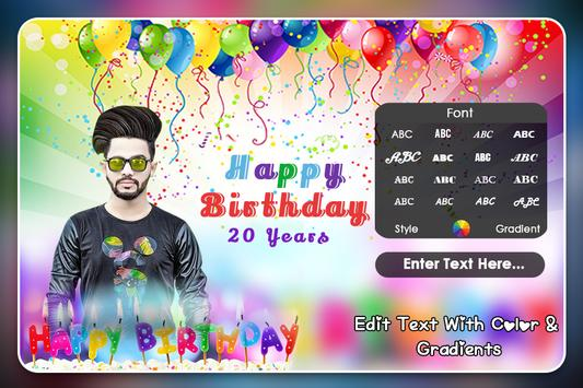 Birthday Photo Frame screenshot 4