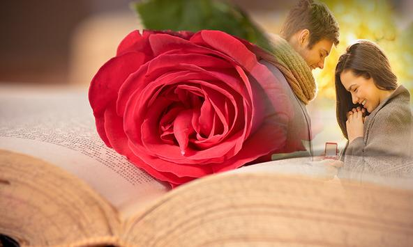 Romantic Book Photo Frame apk screenshot