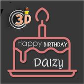 3d Name On Birthday Cake icon