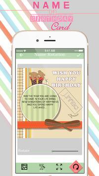 Name On Birthday Card apk screenshot