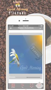 Name On Good Morning Pics apk screenshot