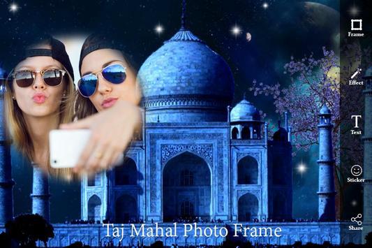 Taj Mahal Photo Frame : Seven Wonder Frame Editor poster