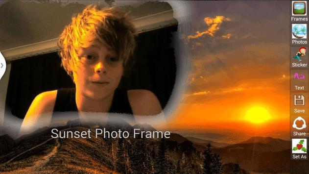 Sunset Photo Frame screenshot 3