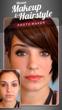 Women make up and hairstyle photo maker screenshot 3