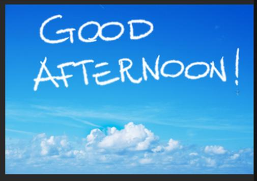 Good Afternoon Greeting Cards poster