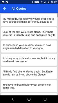Abdul Kalam Quotes screenshot 2