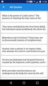 Srimad Bhagavad Quotes screenshot 1