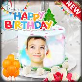 Cake photo frame photo editor | photo mixer icon