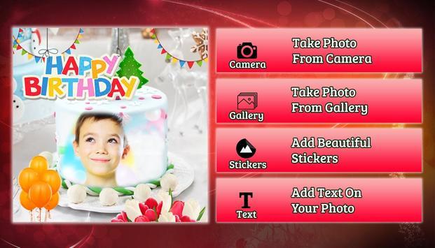 Cake photo frame photo editor | photo mixer screenshot 1