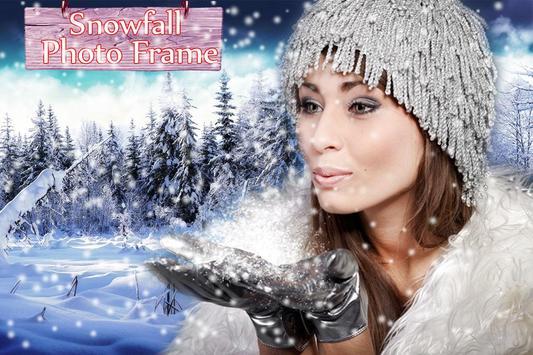 Snowfall photo frame photo editor   photo mixer screenshot 3