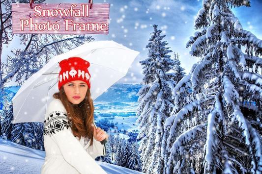 Snowfall photo frame photo editor   photo mixer screenshot 4