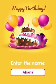 Birthday Song With Name Bday Wish Poster