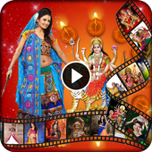 Navratri photo to video with music | movie maker icon