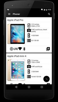 Phoner - Mobile Specs apk screenshot