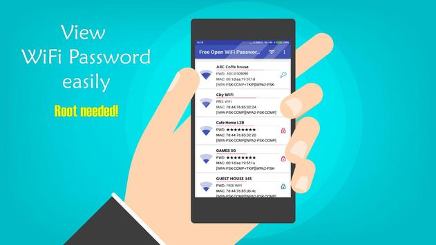 FREE OPEN WIFI PASSWORD SCANNER apk screenshot