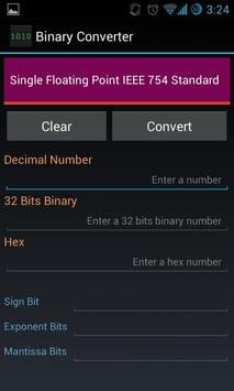 Binary Floating IEEE Converter poster