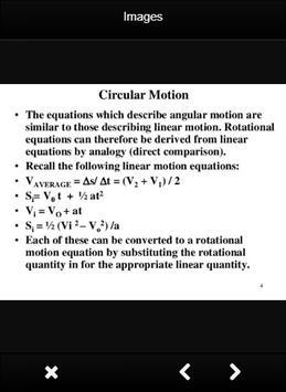 Physics Circular Motion Formulas screenshot 1