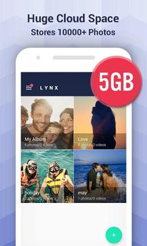 Lynx Privacy-Hide photo/video, Free 5GB Cloud apk screenshot