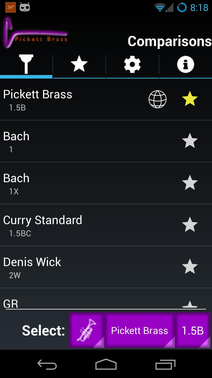 Brass Mouthpiece Comparator for Android - APK Download