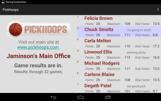 Pickhoops Mobile App apk screenshot