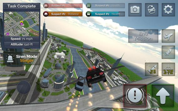 Flying Police Car Chase screenshot 5