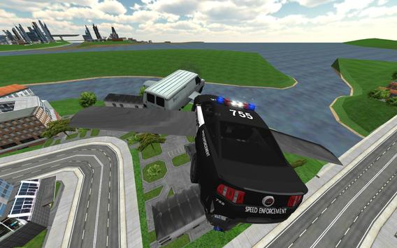 Flying Police Car Chase screenshot 8