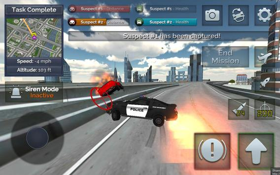 Flying Police Car Chase screenshot 11