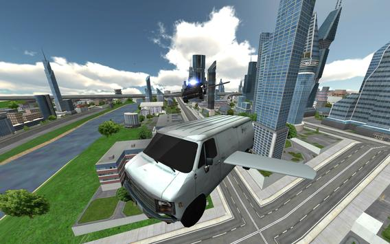 Flying Police Car Chase screenshot 1