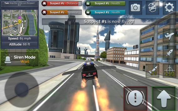 Flying Police Car Chase screenshot 2
