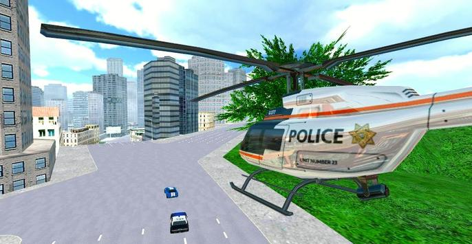 Police Helicopter City Flying apk screenshot