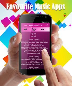 Cold Maroon 5 Lyrics apk screenshot